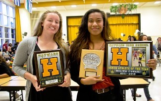 Jazzmine Ecker & Milika Funaki-Volleyball MVP/Senior Athlete of the Year
